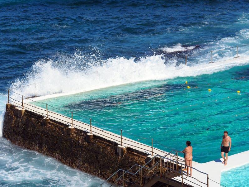 De Oceaanpool van Bondiijsbergen, Sydney, Australië royalty-vrije stock afbeeldingen