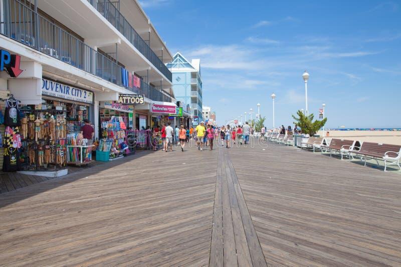 De oceaanpromenade van Stadsmaryland stock fotografie