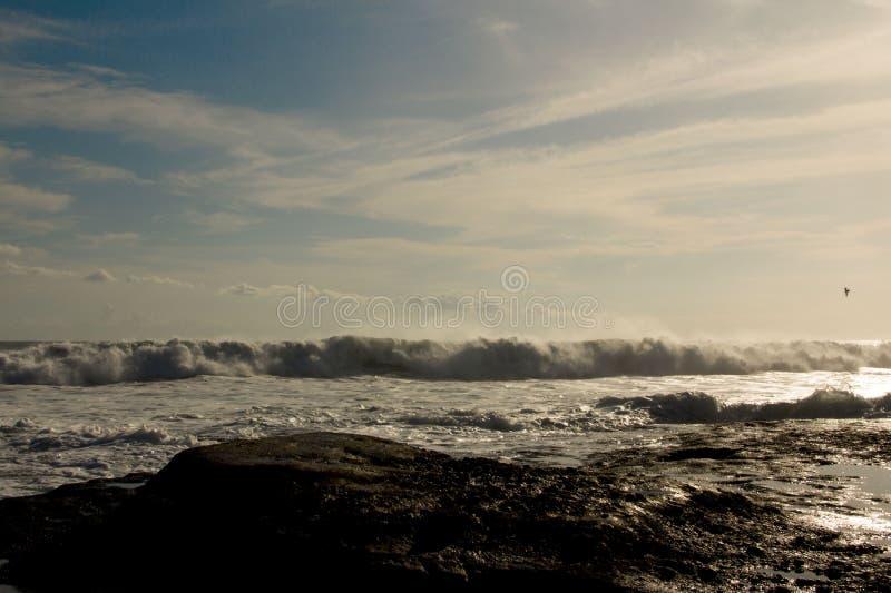 De oceanenzonsondergang stock afbeelding