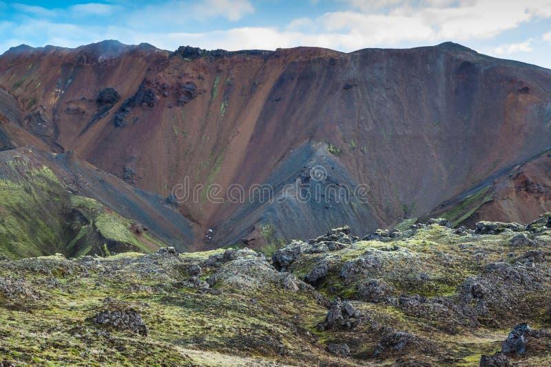 De ochtend in Nationaal Park Landmannalaugar royalty-vrije stock fotografie