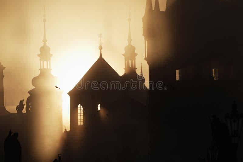 De ochtend van de geheimzinnigheid stock fotografie