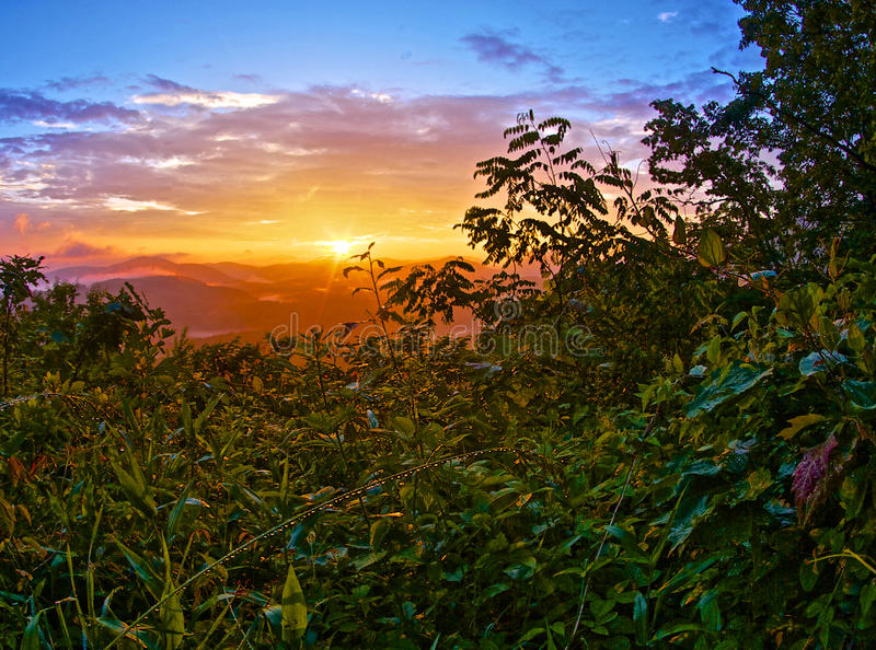 De ochtend van de Whitesideberg stock fotografie