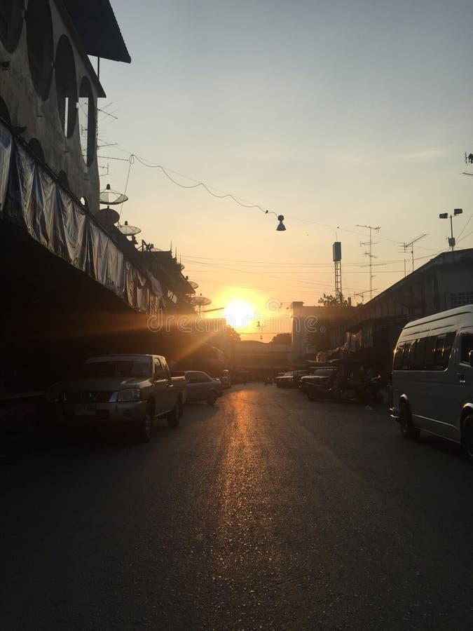 De ochtend van mijn huis, Thailand stock afbeeldingen