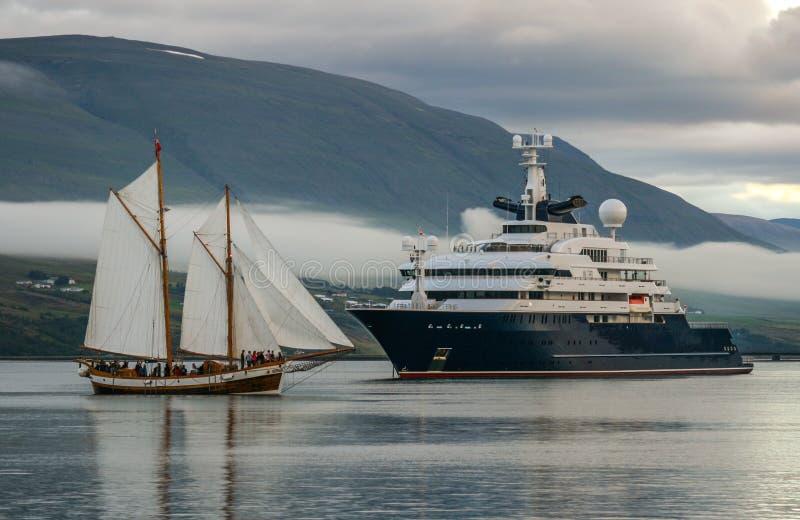 De Octopus van het luxejacht royalty-vrije stock foto