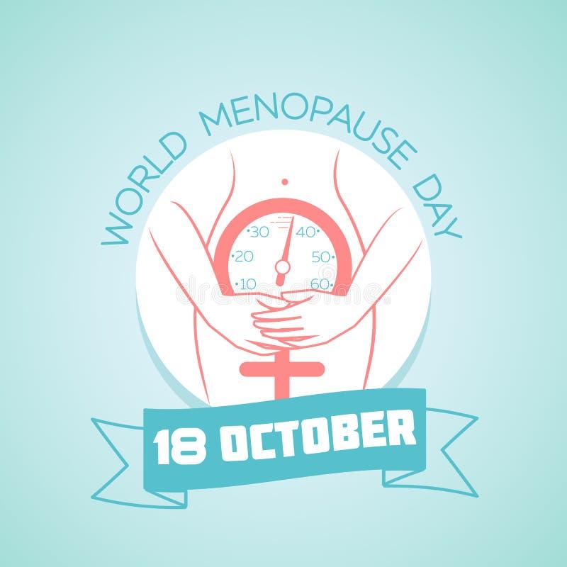 18 de octubre día de la menopausia del mundo ilustración del vector
