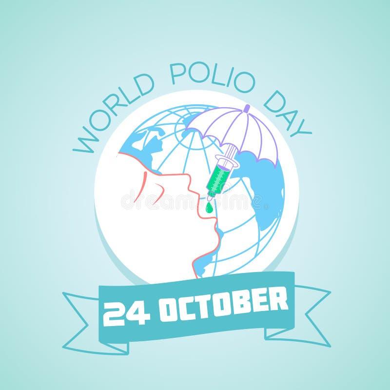 24 de octubre día de la poliomielitis del mundo libre illustration