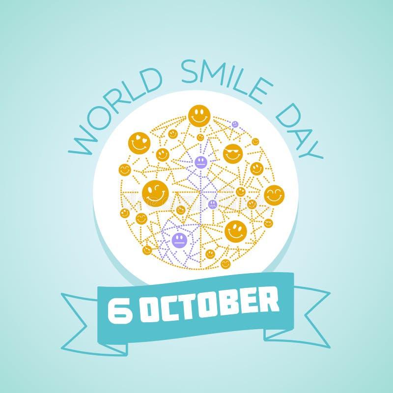 6 de octubre día de la sonrisa del mundo ilustración del vector