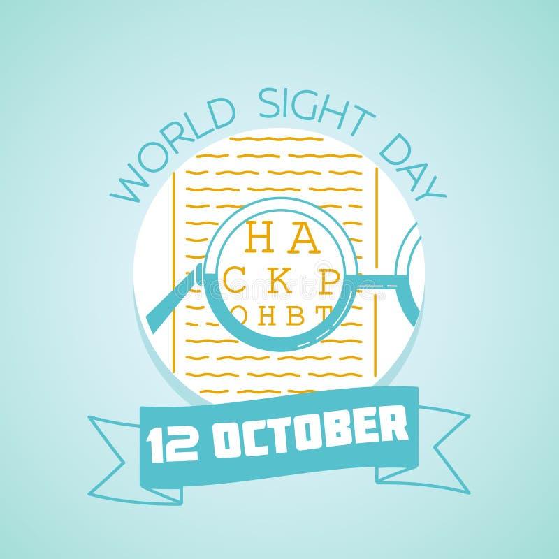 12 de octubre día de la vista del mundo libre illustration