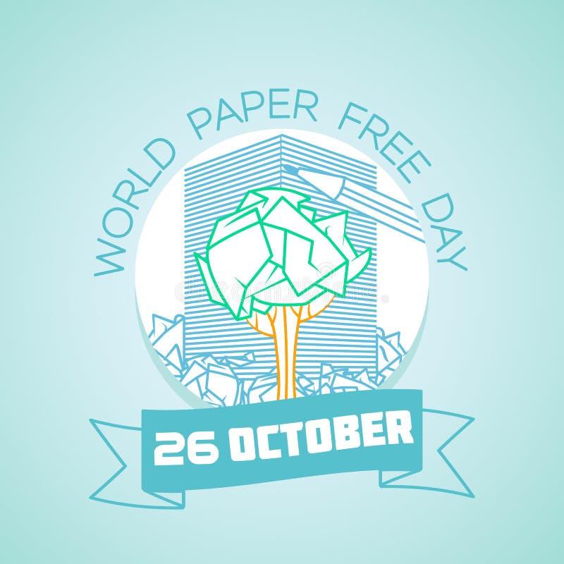 26 de octubre día libre de papel del mundo libre illustration