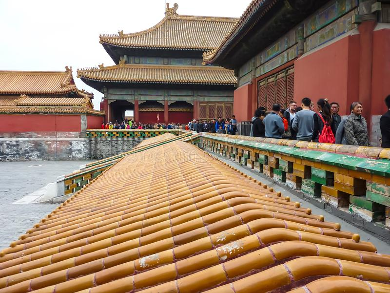 13 de octubre de 2013: La ciudad Prohibida en Pekín, China fotografía de archivo libre de regalías