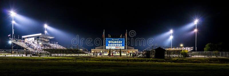 12 DE OCTUBRE DE 2018, PARÍS TEJAS, los E.E.U.U. - stadi del fútbol de la escuela secundaria foto de archivo