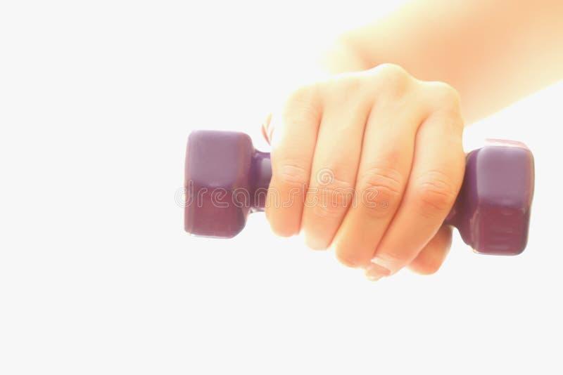 De oefening van Dumbell stock foto