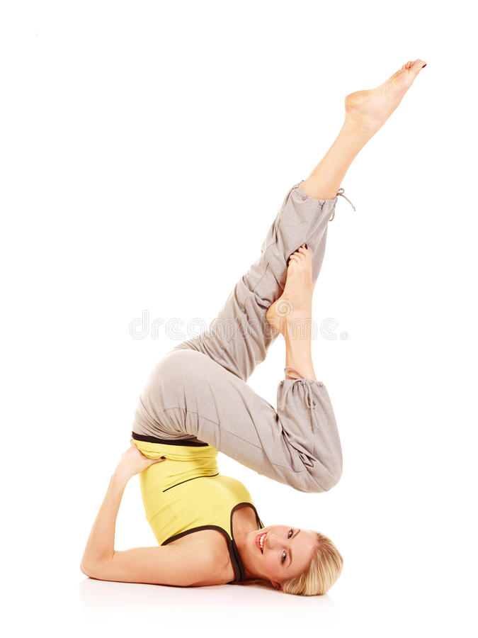 De oefeningen van de aerobics stock fotografie
