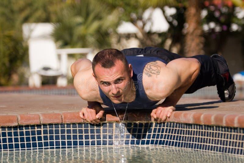 De oefeningen van de geschiktheid, gymnastiek stock foto's