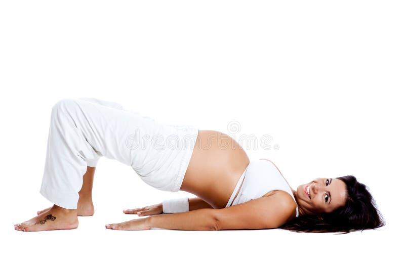 De oefeningen van de zwangerschap stock foto's