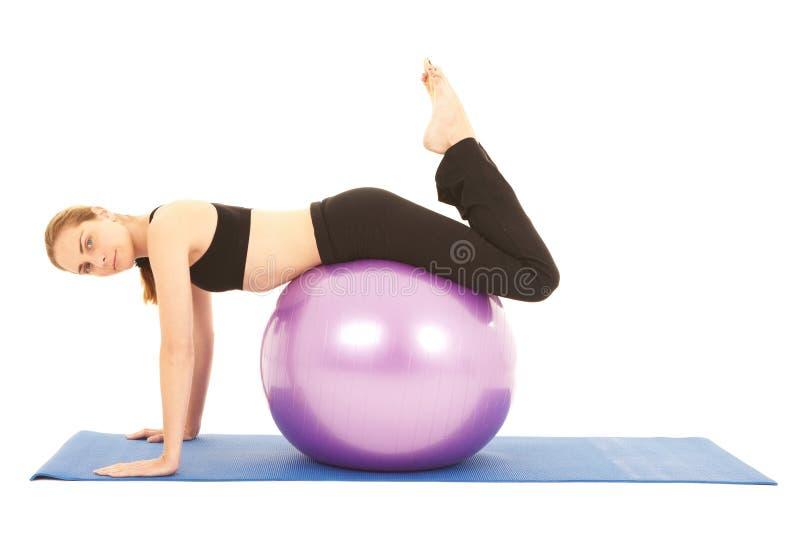 De oefeningsreeks van Pilates royalty-vrije stock foto