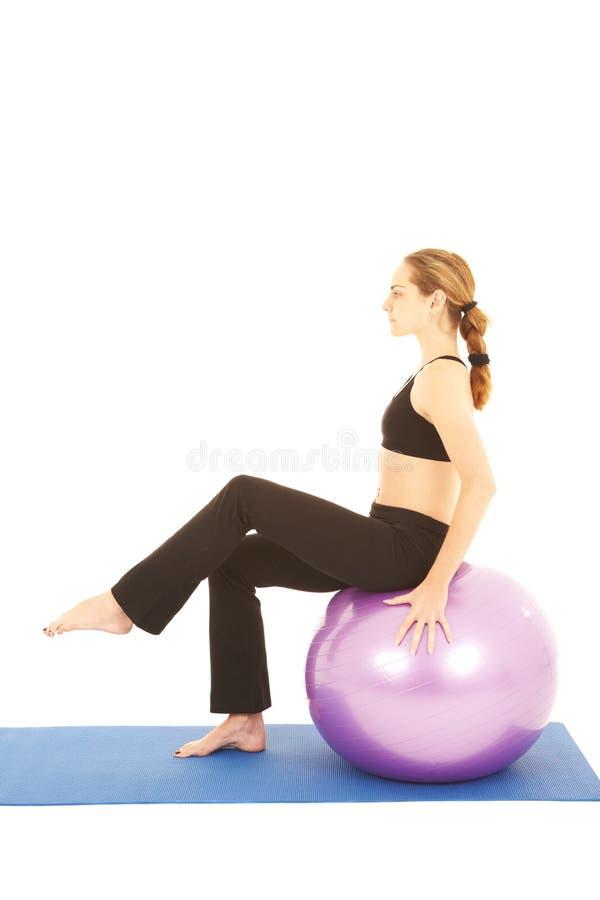 De oefeningsreeks van Pilates stock afbeeldingen