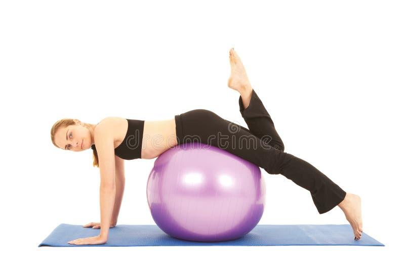 De oefeningsreeks van Pilates stock afbeelding