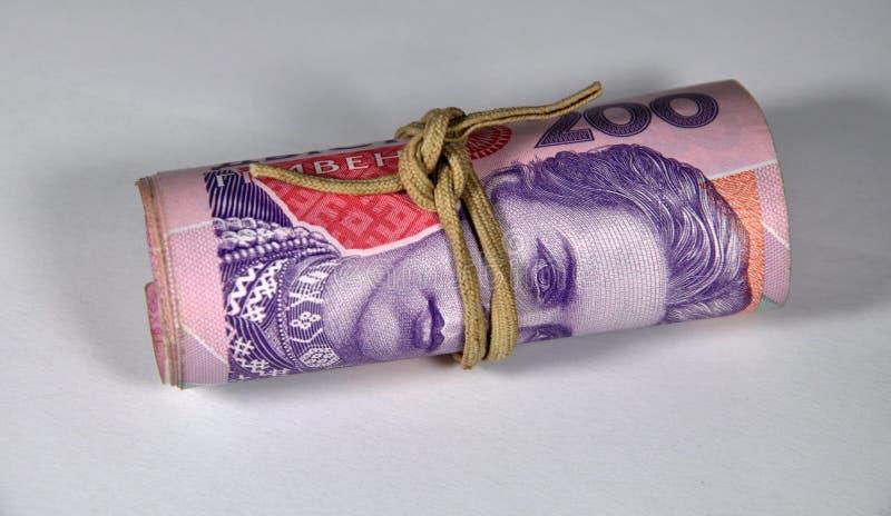 200 de Oekraïense bankbiljetten van UAH royalty-vrije stock afbeeldingen