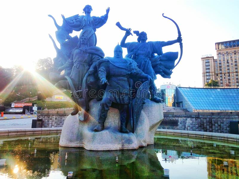 De Oekraïne - Kiyv stock afbeelding