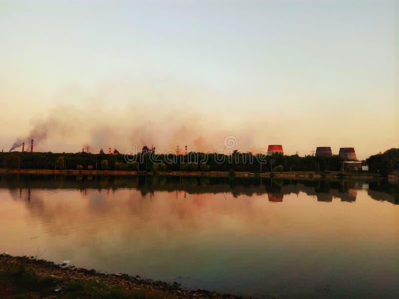 De Oekraïne Krivoy Rog - Arselor Mital steelt royalty-vrije stock fotografie