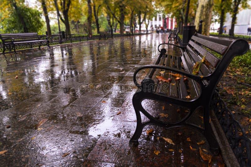 De Oekraïne, Odessa, Primorskiy-Boulevard royalty-vrije stock afbeeldingen
