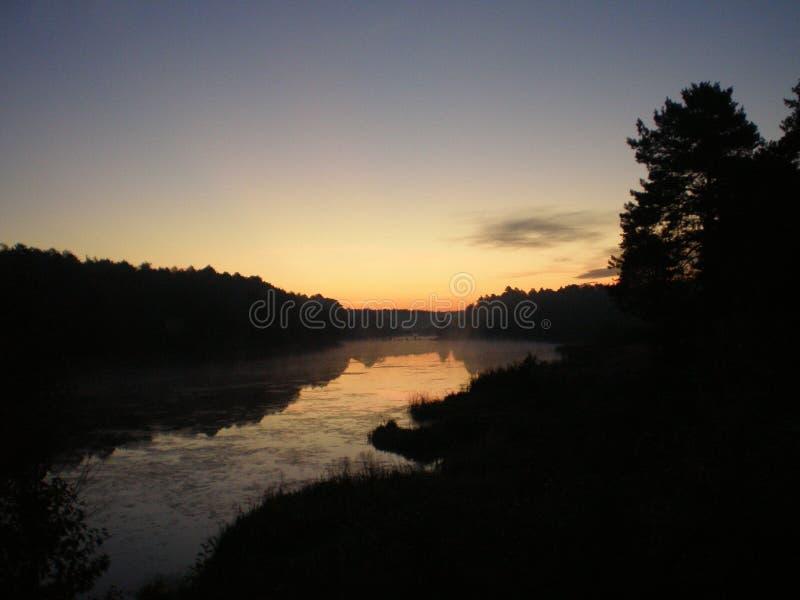 De Oekraïne, Slavuta, vroege dageraad, rivier, één van schilderachtigste plaatsen 10 03 2015 royalty-vrije stock foto's