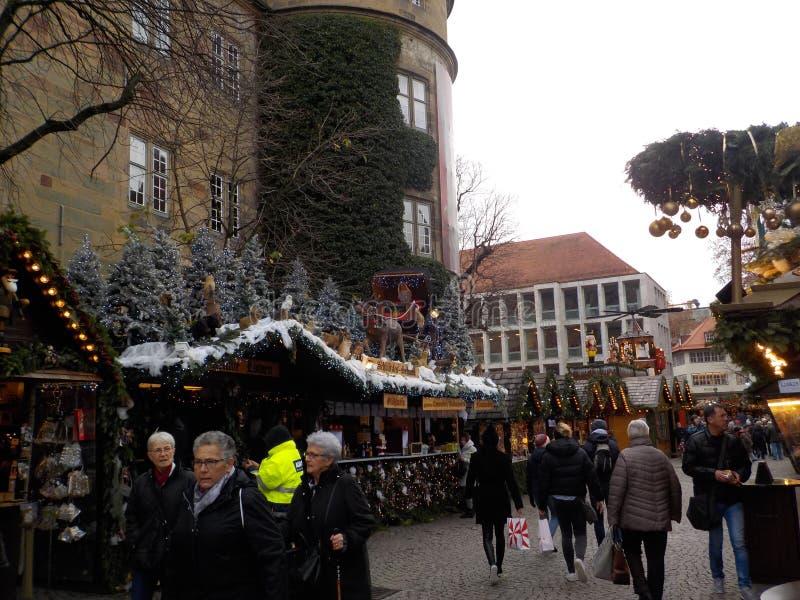 De oerhörda julmarknaderna av Suttrart, Tyskland arkivfoto
