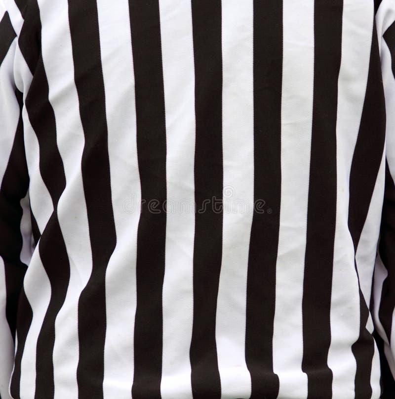 De officiële strepen van het scheidsrechtersoverhemd stock afbeelding