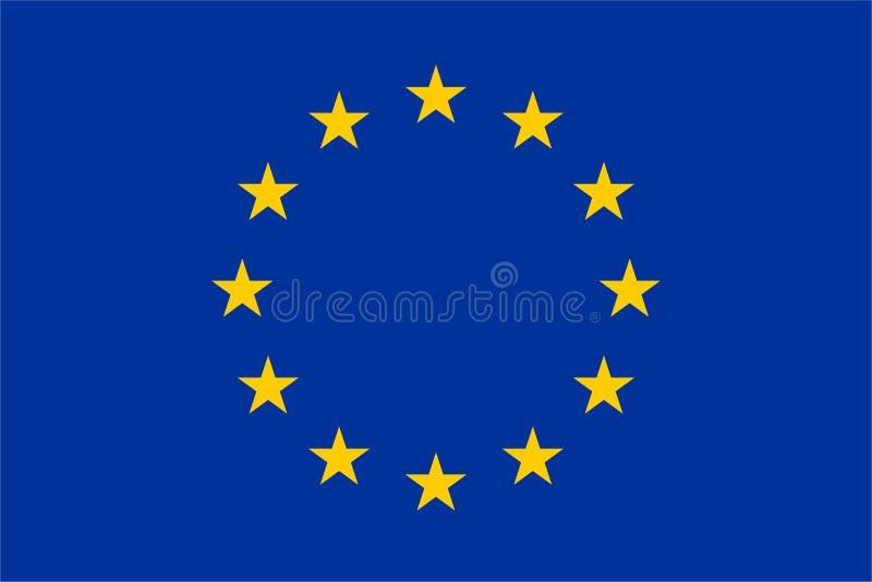 De officiële vlag van de EU stock illustratie
