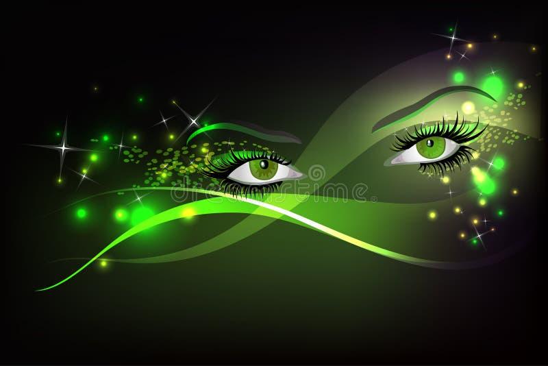 De ogen van de aantrekkingskracht vector illustratie
