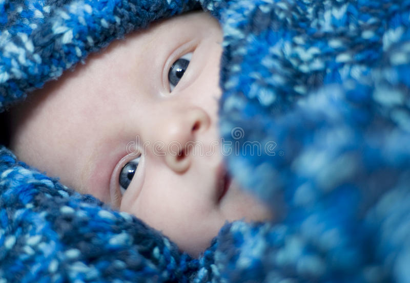 De ogen van de baby