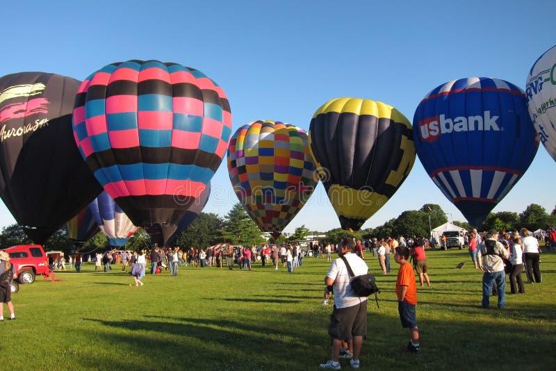 De Ogen van de Ballon van de hete Lucht aan het Festival van Hemelen royalty-vrije stock fotografie