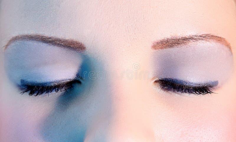 De ogen van de vrouw stock afbeeldingen