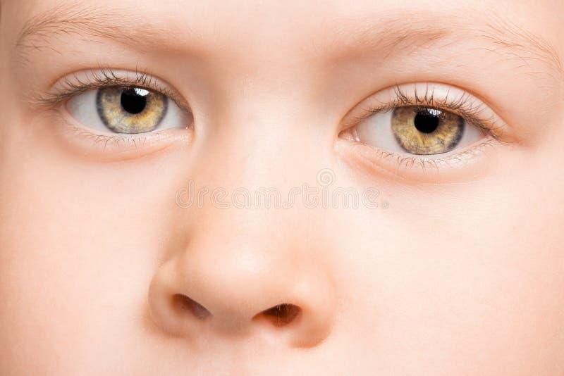 De ogen van het kind royalty-vrije stock afbeelding