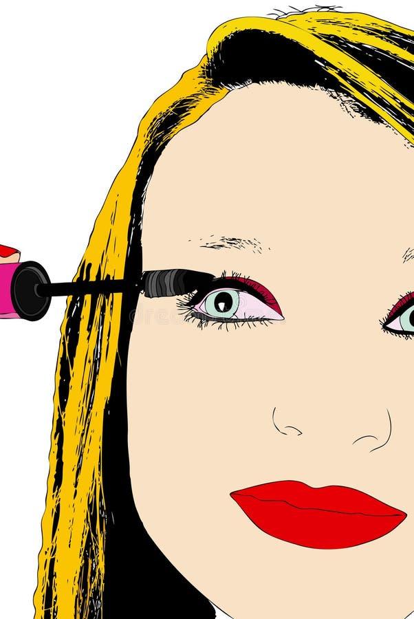 De ogen van de vrouwensamenstelling vector illustratie