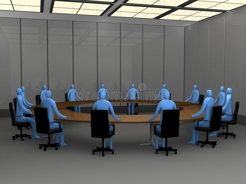 De Ogenblikken van het bureau - de Zaal van de Vergadering royalty-vrije illustratie