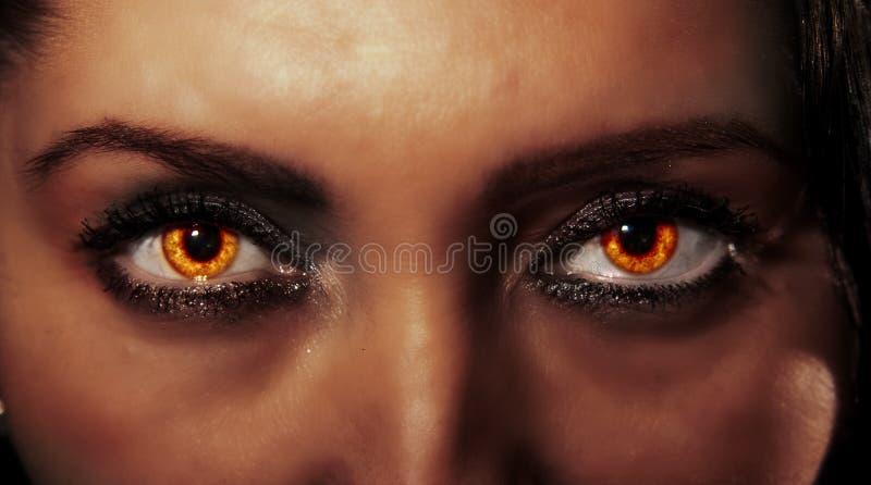 Vurige ogen stock foto's