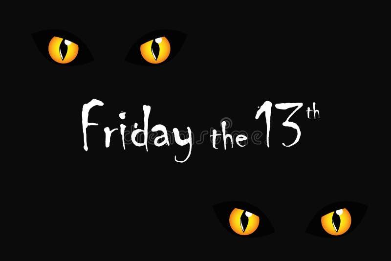 De ogenvrijdag van de kat de 13de verschrikking royalty-vrije illustratie