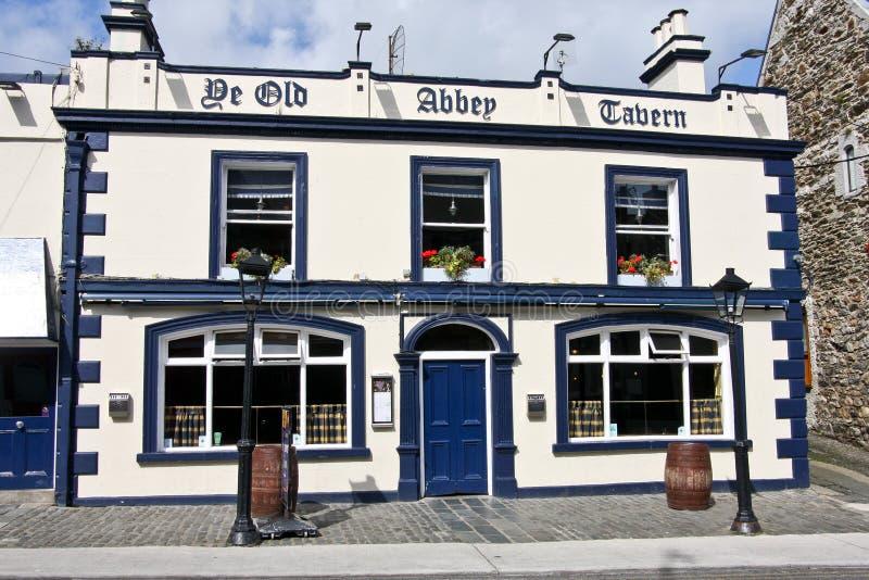 De Old Abbey小酒馆, Howth,爱尔兰 库存照片