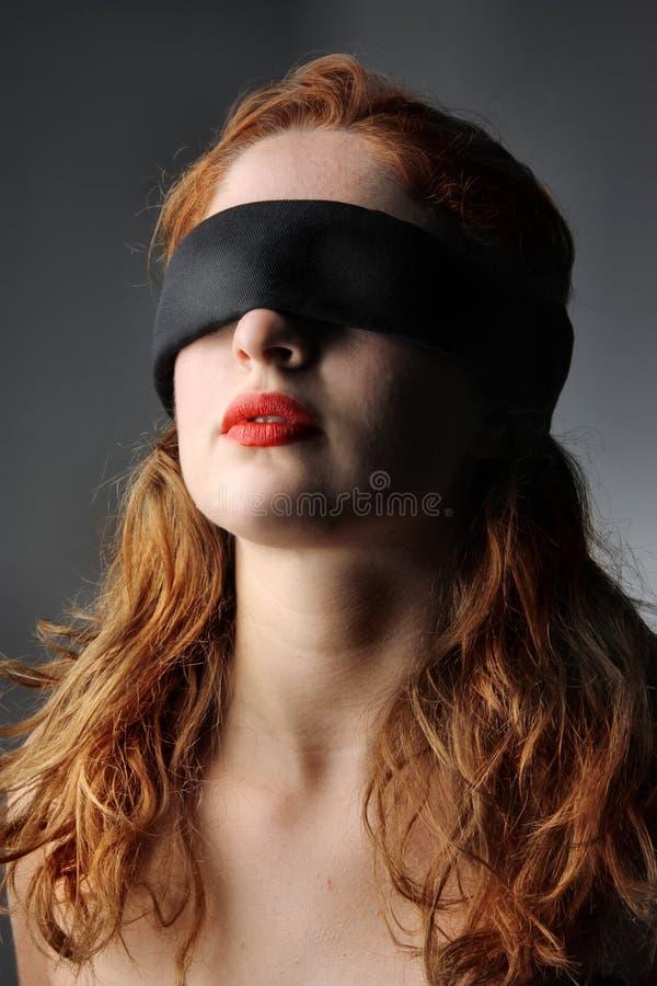 De olhos vendados foto de stock royalty free