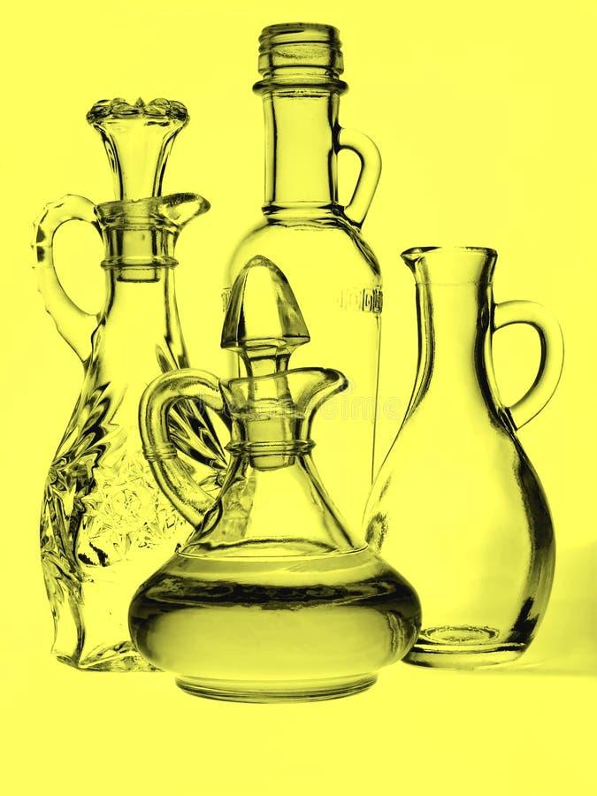 De Olie-en azijnstelletjes van de Olijfolie royalty-vrije stock foto