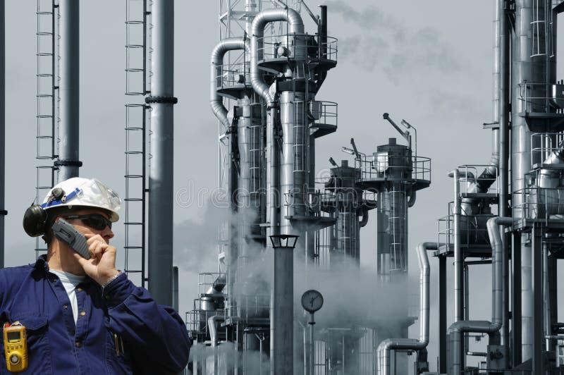 De olie, het gas en de macht van de ingenieur stock afbeeldingen