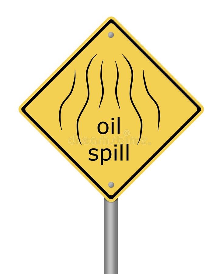 De Olie Spil van het Waarschuwingssein royalty-vrije illustratie