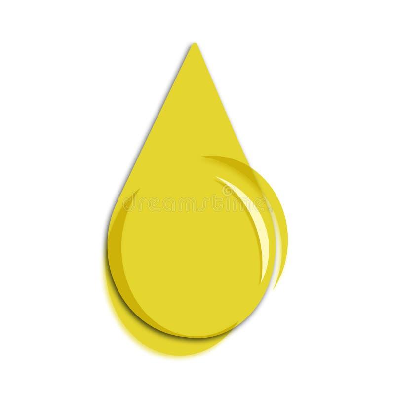 De olie van de daling stock illustratie