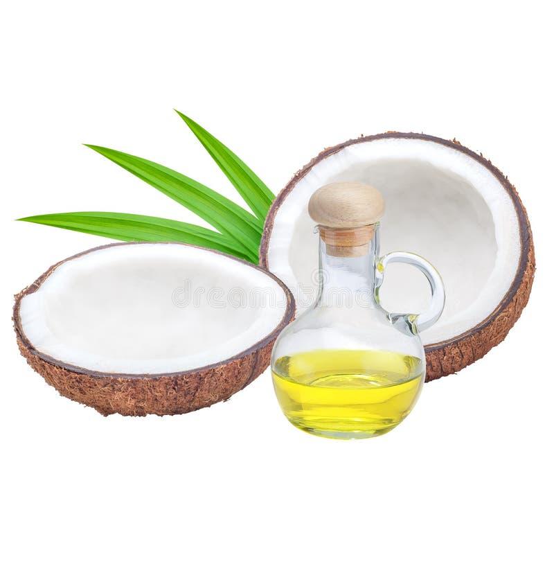 De olie van de kokosnoot stock foto's
