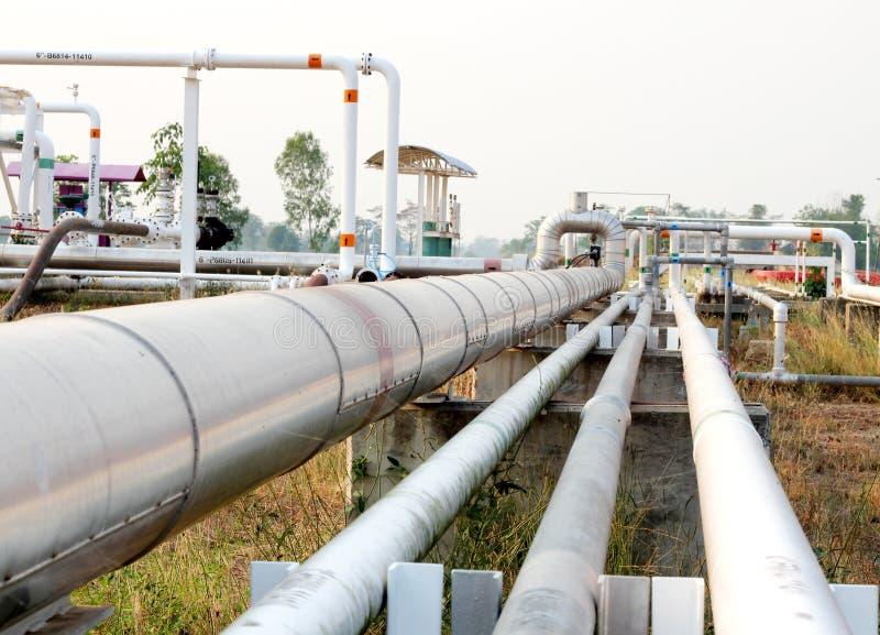 De Olie van het pijpleidingsvervoer, aardgas of water stock afbeelding