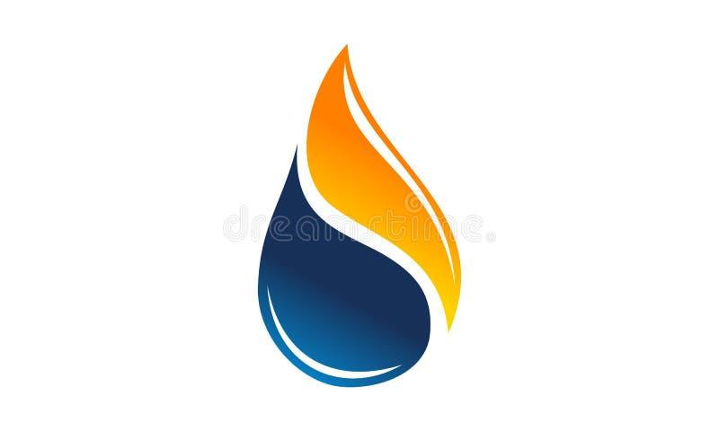 De Olie van het de Vlamgas van de waterbrand stock illustratie
