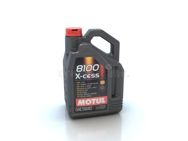 De olie van de Motulmotor stock foto
