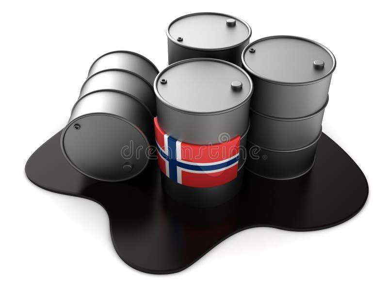 De olie van Noorwegen vector illustratie